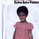 girls RUFFLED TIERS Pullover Dress vintage sewing pattern Simplicity 8594