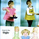 Girls Aprons toddler childs sewing pattern Simplicity 3802