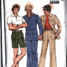 1970s Mens Retro JACKET Pants Shorts size 36 vintage sewing patternButterick 4710