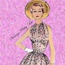 1954 Misses' Dress and Spencer size 12 bust 30 McCalls 9790 d