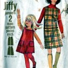 Jiffy JUMPER Dress girls size 6 Simplicity 6704