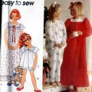 Girls Nightgown, Pajamas size small medium large Simplicity 8818