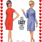1960s Retro STANDING COLLAR Raglan Sleeves Dress - Size 12 Bust 32 - Butterick 4430