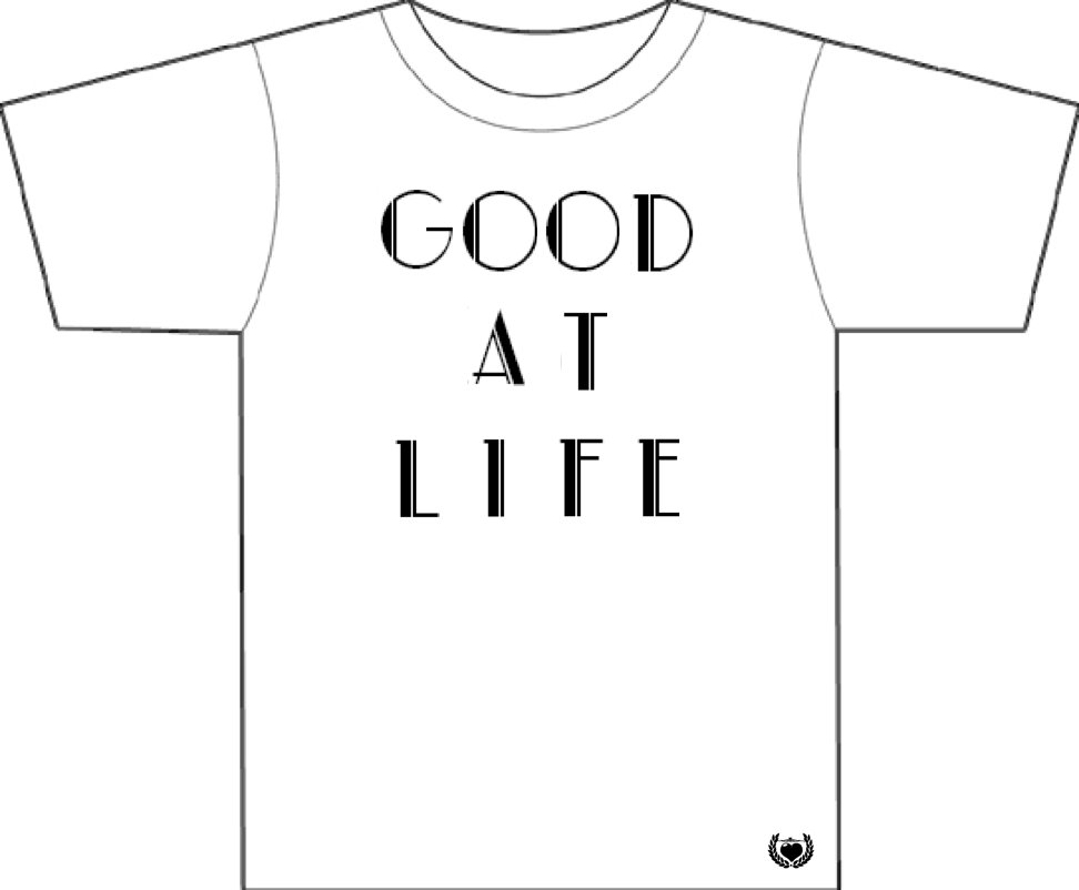 Good at Life - Men's White T-Shirt