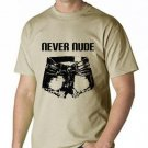 Large Arrested Development Never Nude mens tshirt