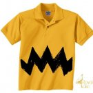 Small 6-8 Retro Polo NEW Charlie Yellow Zig Zag kids boys girls