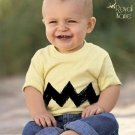 5/6 Cartoon Charlie Yellow Black Zig Zag kids boys girls infant toddler t shirt