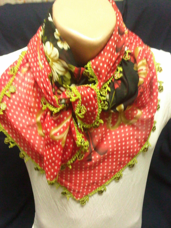 beatiful neck rag scarf shawl pretty design