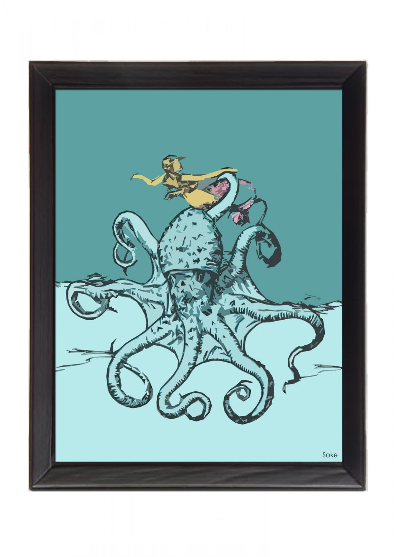 Love Mates 8x10 ART Prints WALL DECOR DONE BY ARTIST SoKe