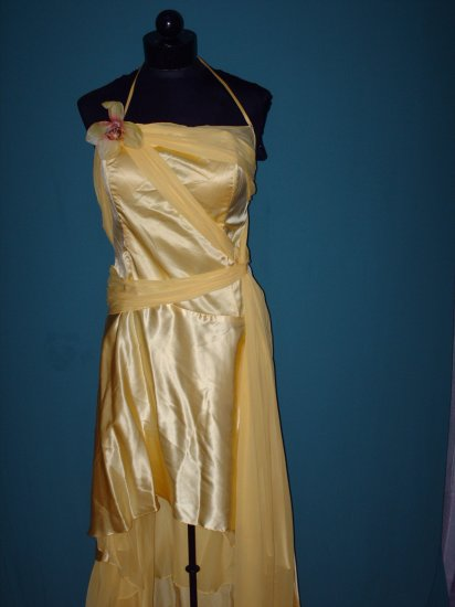 Yellow Flower Evening Dress