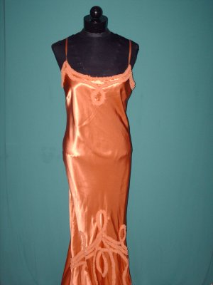 Fomal Copper Gown with Lace