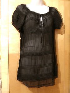 LADY FASHION BLOUSE BLACK SIZE XL