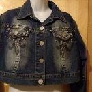 LADIES FASHION JEANS TOP SIZE XL