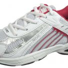 LADIES ATHLETIC SPORTS WHITE GREY AND WINE SNEAKER SIZE 7.5