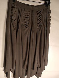 CAL FASHION LADIES SKIRT SIZE L BROWN