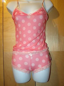 SPREE GIRL NIGHT SLEEPWEAR SER PINK WITH MATCHING PANTY SIZE M