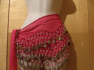 PRETTY GIRL BELLY DANCE SCARF NEW