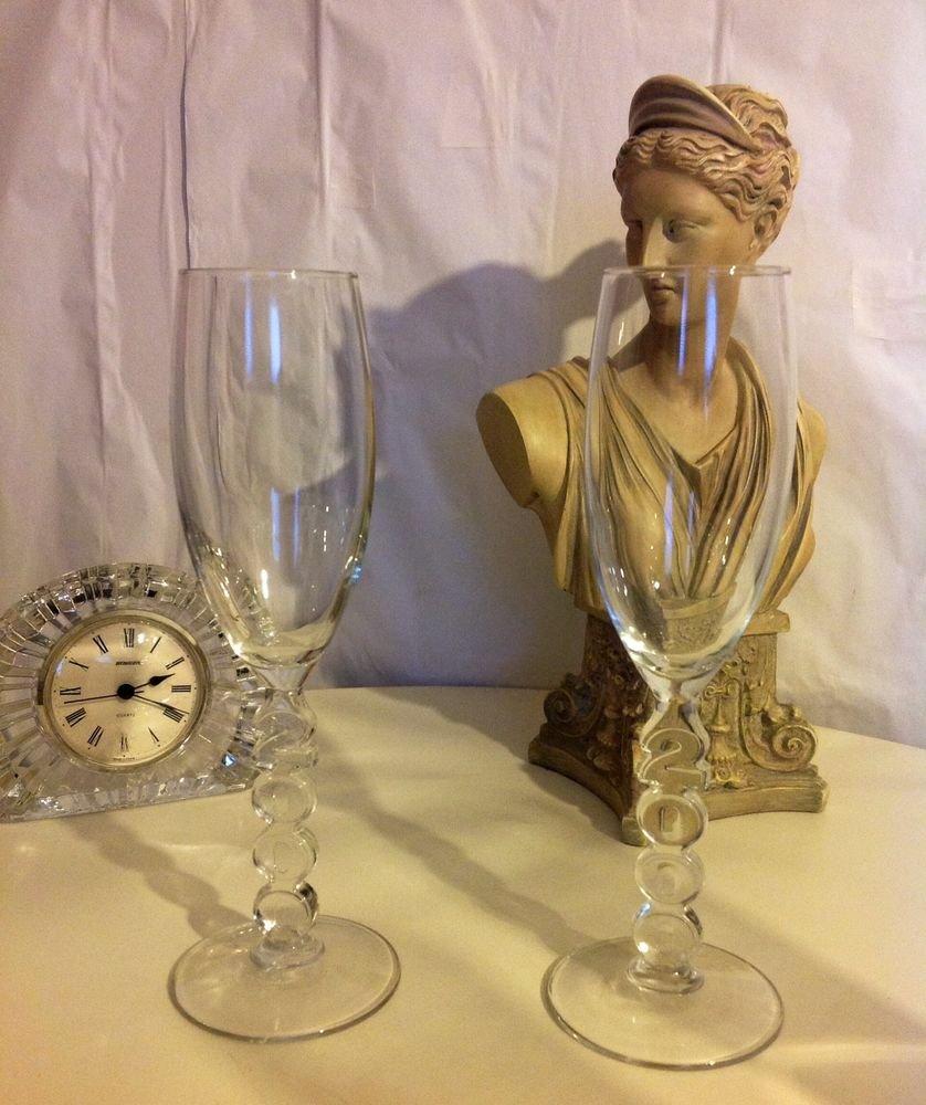 2000 MILLENNIUM FLUT WINE GLASS