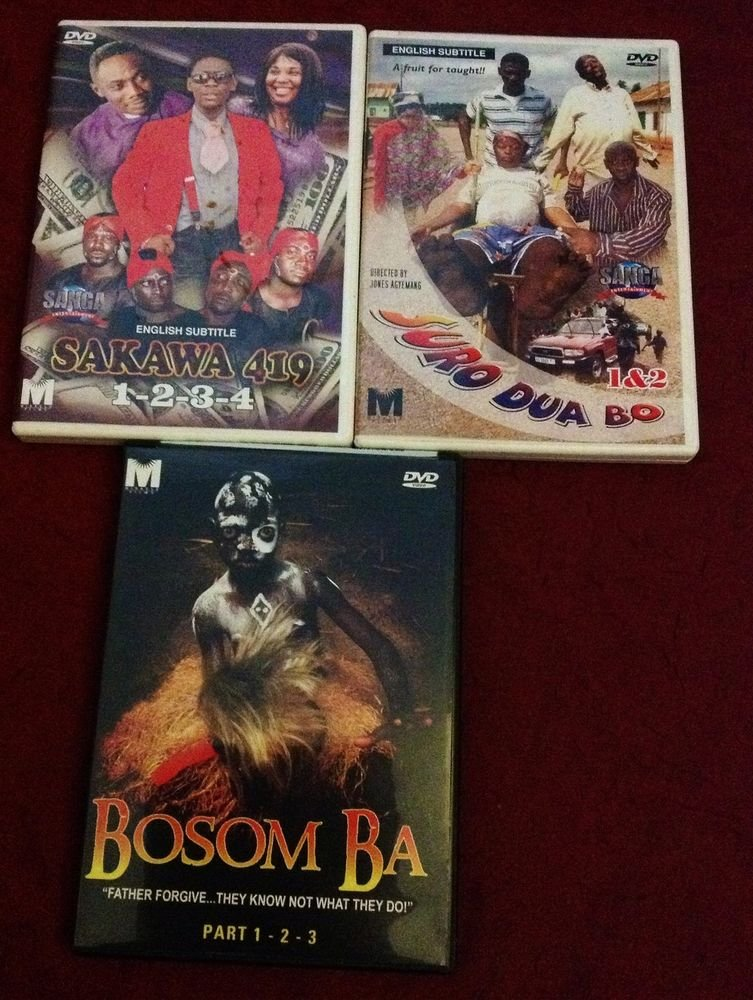 3 SET RITUAL/VOODOO AND CHURCH  AFRICAN MOVIE PCK IN THERE DIFF LANGUAGE
