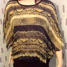 DRAMA GOLD LADIES BLOUSE SIZE LARGE