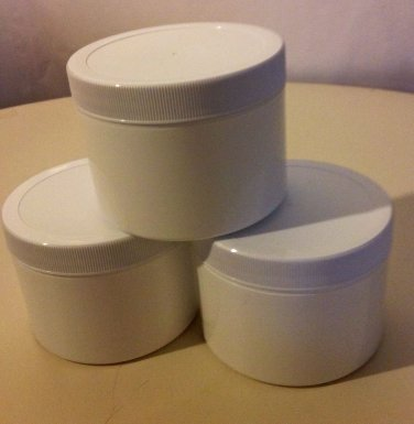 WHITE DOUBLE WALL JARS WITH CAP 8 OZ COMBO 6PK