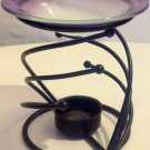 SWIRL OIL WARMER WITH PURPLE GLASS LID