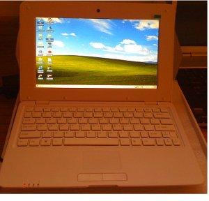 Mini Laptop 10 inch Netbook WiFi Webcam Windows -WHITE