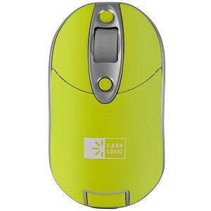 EW-613 3-Button Wireless Rechargeable Optical Scroll Mouse (Lime Green)