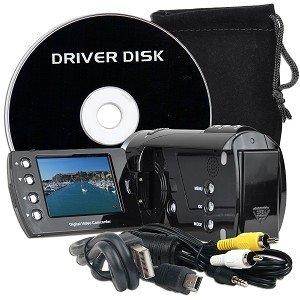 "High-Definition 720p Digital Camcorder w/4x Digital Zoom & 2.4"" Flipout LCD (Black)"