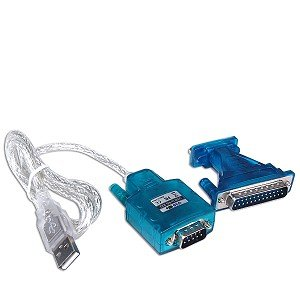 3' USB to RS-232 (9-pin) Serial Cable w/25-pin Serial Adapter