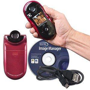 Sakar Swivel Shot 5.1MP 8x Digital Zoom HD Camera w/180° Rotating Lens (Red)