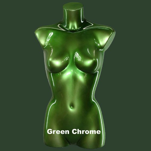 Green Chrome Female Torso