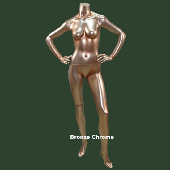 Bronze Chrome Female Headless mannequin