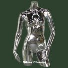Silver Chrome Female Torso with Arms