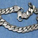 VINTAGE STERLING SILVER FLAT LINK CHAIN BRACELET 18.8GR