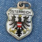 VINTAGE OSTERREICH AUSTRIA 800 SILVER ENAMEL CHARM