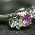 STERLING SILVER CZ CUBIC ZERCONIA STONE RING