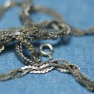 STERLING SILVER BRAIDED LINK CHAIN NECKLACE