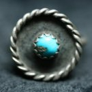 MEXICO STERLING SILVER TURQUOISE GEMSTONE RING