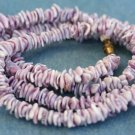 """VINTAGE COSTUME JEWELRY PURPLE SHELL NECKLACE 30"""""""