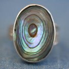 FASHION JEWELRY STERLING SILVER ABALONE SHELL RING