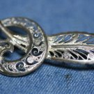 VINTAGE STERLING SILVER FILIGREE FEATHER PIN