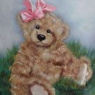 TEDDY BEAR MOUSEPAD ARTIST ORIGINAL  KIMBEARLYS