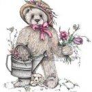Teddy Bear Original Artist Kimbearlys Garden Print