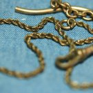 ANTIQUE VICTORIAN GOLD FILLED POCKET WATCH FOB CHAIN