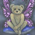 FAIRY TEDDY  BEAR BUTTERFLY PRINT KIMBEARLYS ORIGINALS