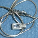 MEXICO STERLING CUBIC ZERCONIA PENDANT CHAIN NECKLACE