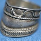FASHION JEWELRY BALI STERLING SILVER BAND RING WIDE