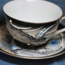 JAPAN MORIAGE DRAGON  GOLD TRIM CUP & SAUCER