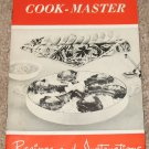 Vintage Cook-Master Recipes and Instructions Booklet